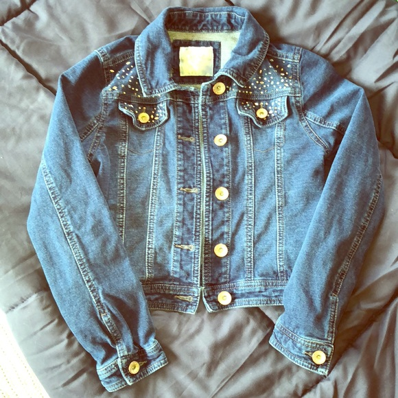 68c44a5db Justice Jackets & Coats | Bling Jean Jacket Girls 810 | Poshmark